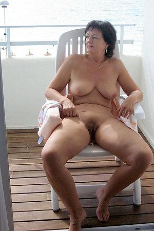 Nudist grannies atop naturist ship